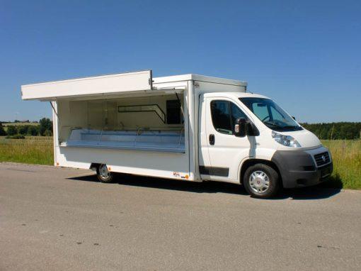 Kühlthekenmobil für den mobilen Fischverkauf