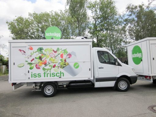 Mobile Verkaufsflotte für frische Snacks & Salate