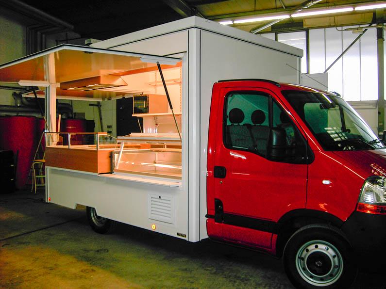 Imbissmobil mit Kühlthekenabteil