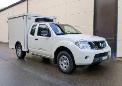 Kühlkofferaufbau auf Nissan Navara
