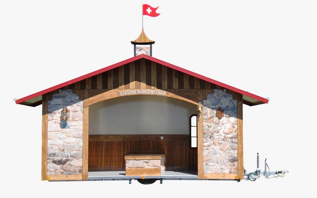 Absenkbarer Kundenpavillon Bootshaus