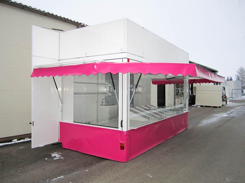 Süßwarenanhänger mit großer umlaufender Werbeblende